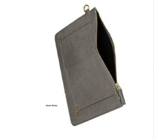 Jérôme Dreyfuss Calfskin Leather Popoche Grey Clutch