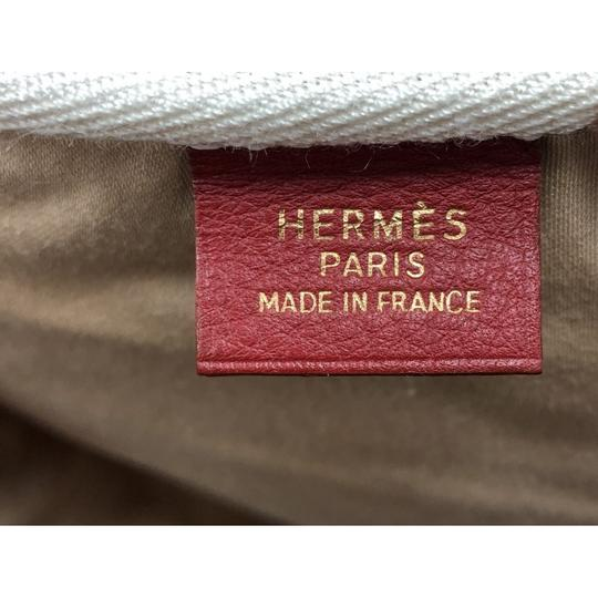 Hermès Messengerbag Toile Leather Cross Body Bag