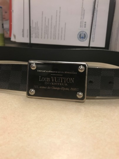 Louis Vuitton Inventeur Belt Damier Graphite