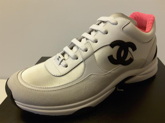 Chanel Sneakers Silver Pink white Athletic