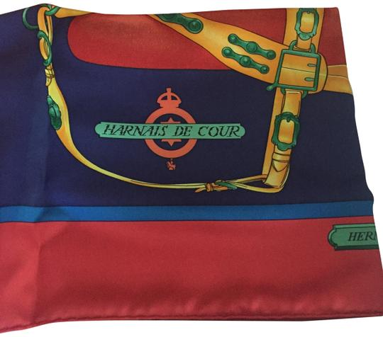 Preload https://item5.tradesy.com/images/hermes-red-blue-buttercup-rouge-marine-bouton-d-or-harnais-de-cour-scarfwrap-24049604-0-1.jpg?width=440&height=440