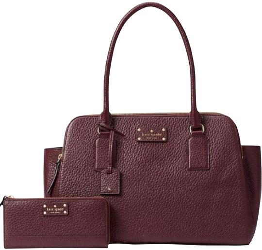 Preload https://item4.tradesy.com/images/kate-spade-lydia-nisha-wallet-wine-leather-satchel-24049608-0-2.jpg?width=440&height=440