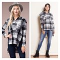 Chloah Plaid High Low Tunic Button-down Top Size 6 (S) Chloah Plaid High Low Tunic Button-down Top Size 6 (S) Image 2