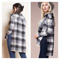Chloah Plaid High Low Tunic Button-down Top Size 6 (S) Chloah Plaid High Low Tunic Button-down Top Size 6 (S) Image 3