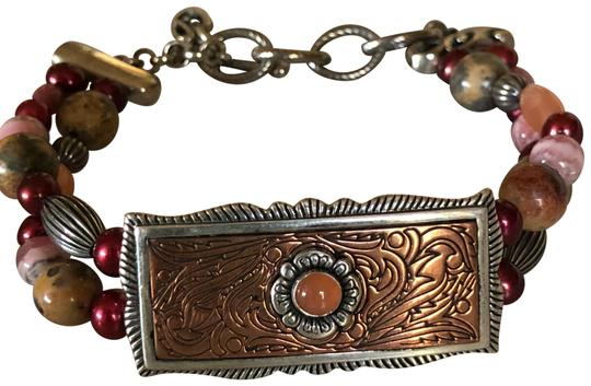 Preload https://item4.tradesy.com/images/carolyn-pollack-copper-silver-peach-pink-red-relios-beaded-bracelet-24049618-0-1.jpg?width=440&height=440
