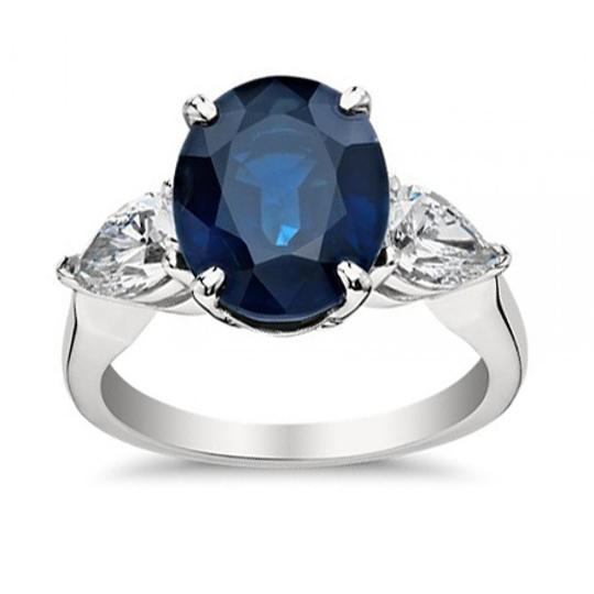 Preload https://item1.tradesy.com/images/madina-jewelry-white-933-ct-oval-shape-sapphire-with-pear-shape-diamond-anniversary-ring-24049625-0-0.jpg?width=440&height=440