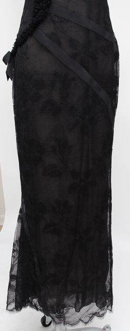 Chanel Floral Lace Evening Gown Dress