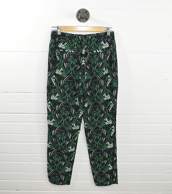 J.Crew Print Casual Date Night Jogger Fall Relaxed Pants GREEN/ BLACK/ WHITE
