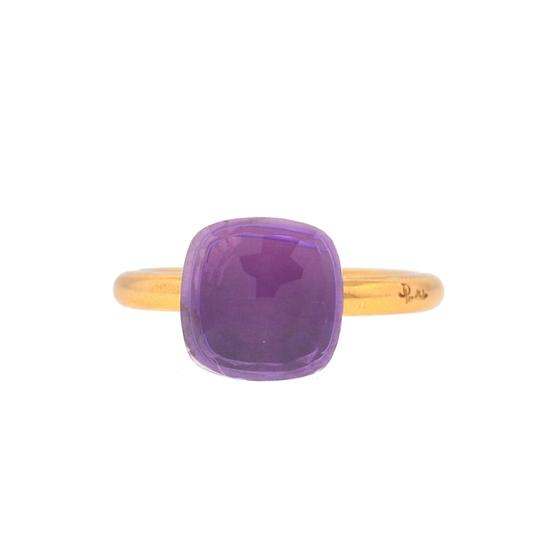 Pomellato Pomellato 18k Yellow Gold Nudo Medium Amethyst Ring
