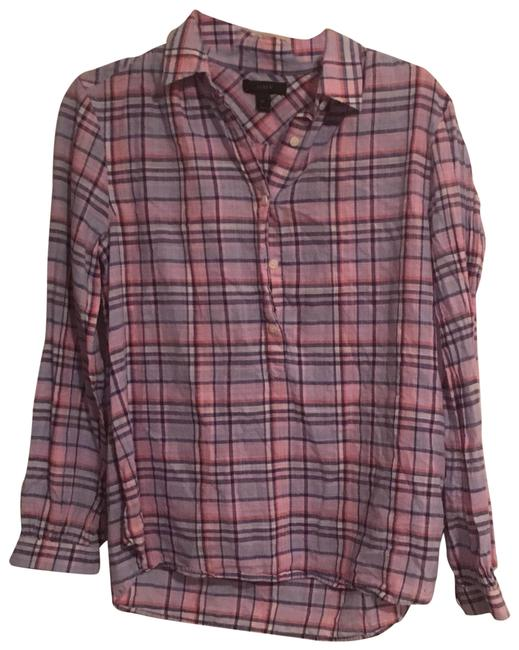 Preload https://img-static.tradesy.com/item/24049713/jcrew-pink-and-purple-plaid-button-down-top-size-petite-4-s-0-1-650-650.jpg