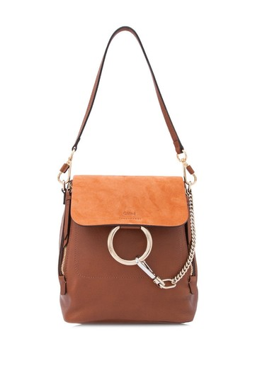 Preload https://item3.tradesy.com/images/chloe-faye-small-brown-calfskin-leather-backpack-24049722-0-0.jpg?width=440&height=440