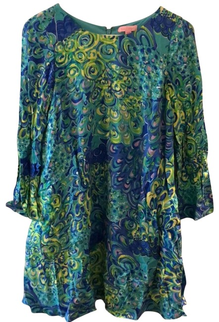 Preload https://img-static.tradesy.com/item/24049723/lilly-pulitzer-blue-green-teal-purple-collete-tunic-mid-length-short-casual-dress-size-00-xxs-0-1-650-650.jpg