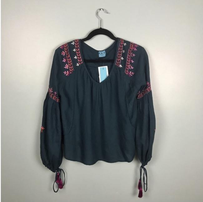 KAS New York Embroidered Wide Sleeves Tassels Tunic