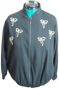 Southern Stitches Windbreaker Embroidered Black Jacket