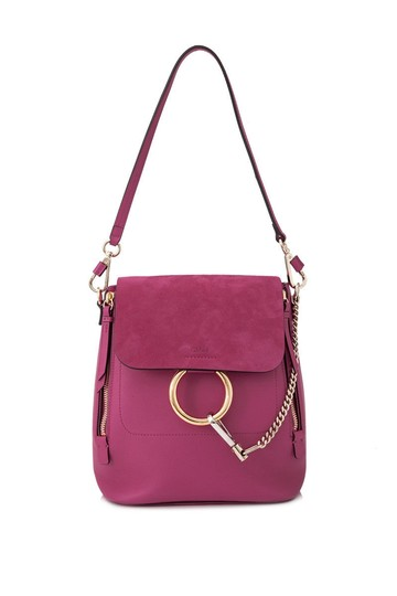 Preload https://item4.tradesy.com/images/chloe-faye-small-pink-calfskin-leather-backpack-24049748-0-0.jpg?width=440&height=440