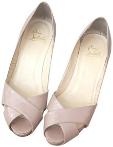 Christian Louboutin Patent Nude Sandals