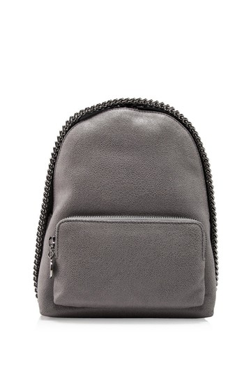 Preload https://item5.tradesy.com/images/stella-mccartney-falabella-shiny-dot-mini-grey-faux-leather-backpack-24049764-0-0.jpg?width=440&height=440
