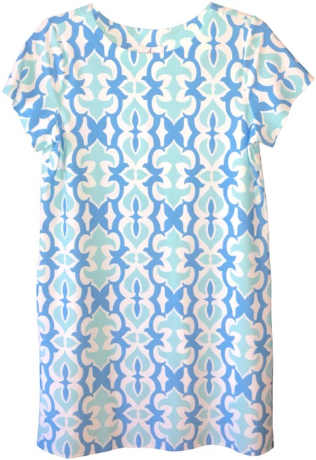 Preload https://item4.tradesy.com/images/jude-connally-blue-and-white-ella-mid-length-short-casual-dress-size-6-s-24049773-0-2.jpg?width=400&height=650