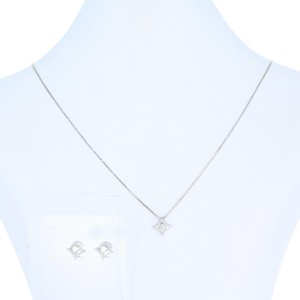 Other Diamond Earrings & Necklace Set 18 1/4