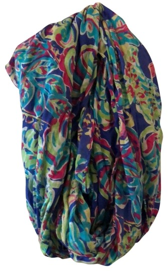 Preload https://item1.tradesy.com/images/lilly-pulitzer-royal-blue-lime-green-hot-pink-white-toucan-play-scarfwrap-24049775-0-1.jpg?width=440&height=440