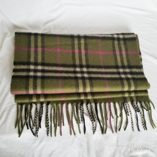 Burberry London Green / Pink Nova Check Cashmere