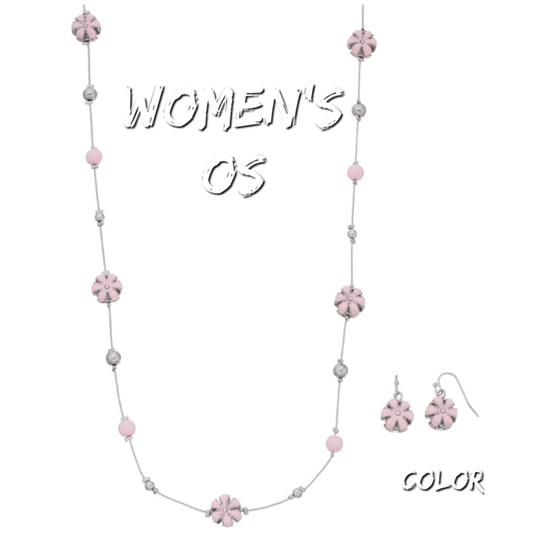 Preload https://img-static.tradesy.com/item/24049798/pink-flower-bead-necklace-0-0-540-540.jpg