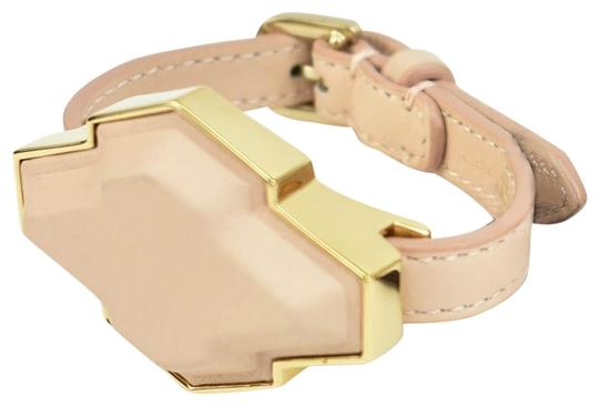 Preload https://item3.tradesy.com/images/tod-s-blush-leather-and-gold-metal-geometric-bracelet-24049817-0-1.jpg?width=440&height=440