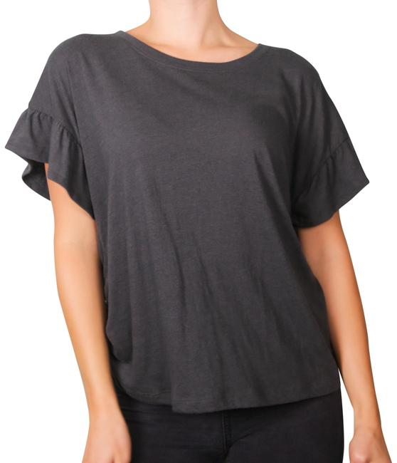 Preload https://img-static.tradesy.com/item/24049819/calvin-klein-dark-grey-comfy-ruffle-sleeve-t-shirt-blouse-size-8-m-0-2-650-650.jpg