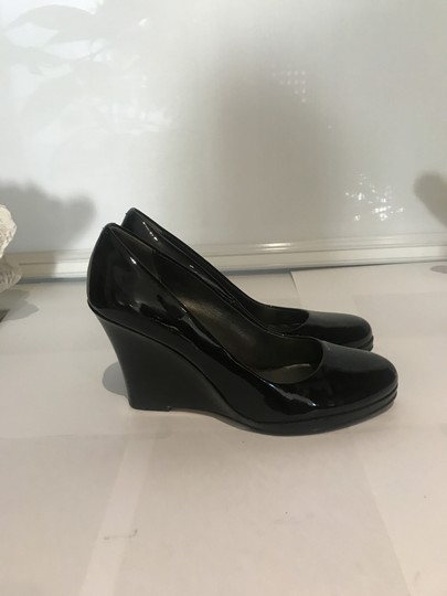 Cole Haan Classic Leather patent Black Wedges