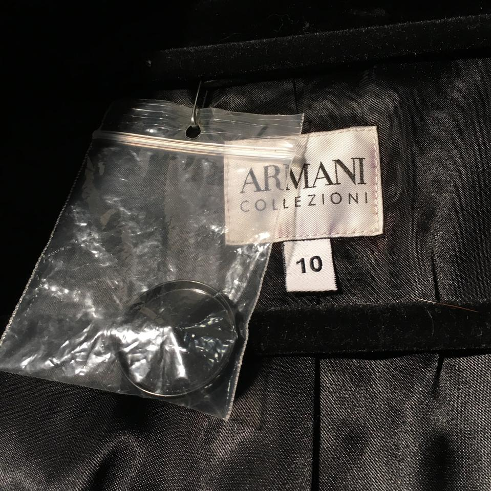 Armani Collezioni Black Lux Shearling With 3 4 Sleeve