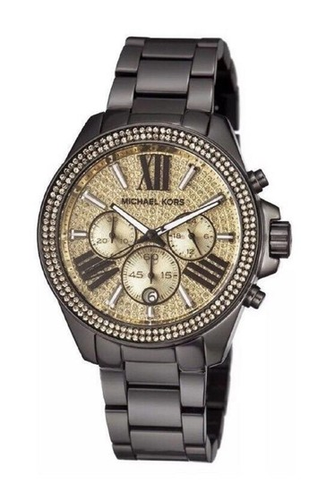 Michael Kors Michael Kors Watch MK5961 Black Gold Crystal Glitz Women Wren Watch