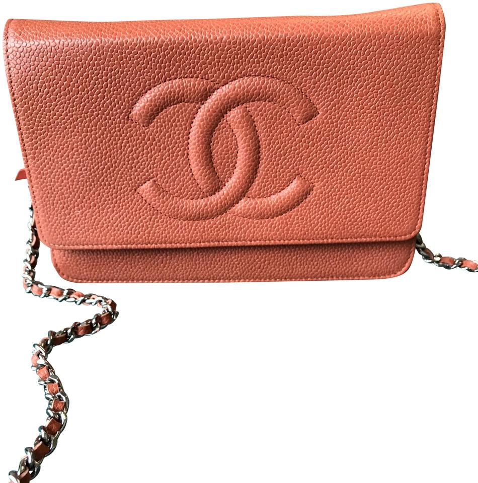dd32878eceea Chanel Wallet on Chain Classic Flap Wallet On A Chain Timeless Quilted Mini  Cc Salmon Caviar Leather Cross Body Bag