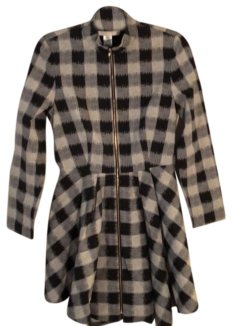 Preload https://item2.tradesy.com/images/black-grey-white-trench-coat-size-6-s-24049866-0-1.jpg?width=400&height=650