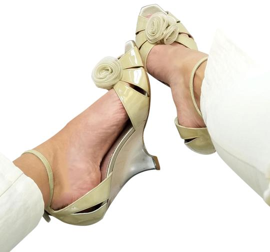 Preload https://item4.tradesy.com/images/giorgio-armani-cream-beige-new-women-patent-leather-slim-wedge-heel-peep-toe-pumps-sandals-size-us-8-24049883-0-1.jpg?width=440&height=440