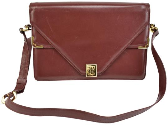 Preload https://item1.tradesy.com/images/cartier-must-c-burgundy-leather-and-double-c-logo-shoulder-bag-24049885-0-1.jpg?width=440&height=440