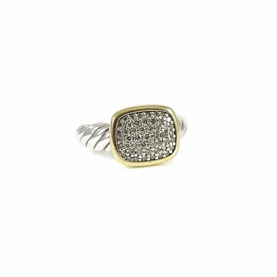 Preload https://item1.tradesy.com/images/david-yurman-silver-gold-white-diamonds-sterling-18k-pave-noblesse-ring-24049890-0-0.jpg?width=440&height=440