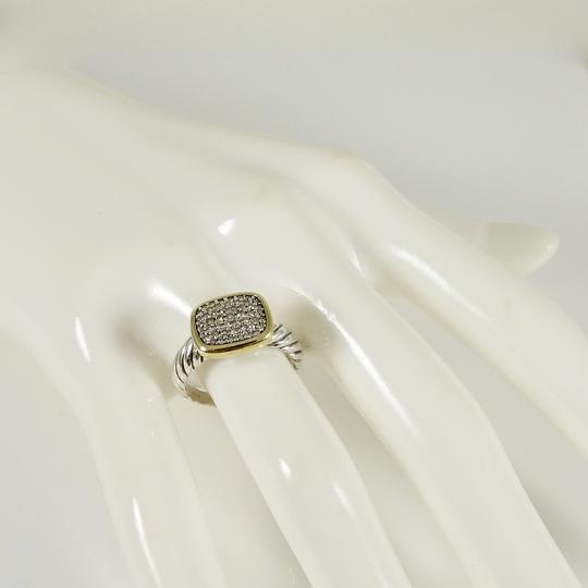 David Yurman David Yurman Sterling Silver 18K Pave Diamond Noblesse Ring