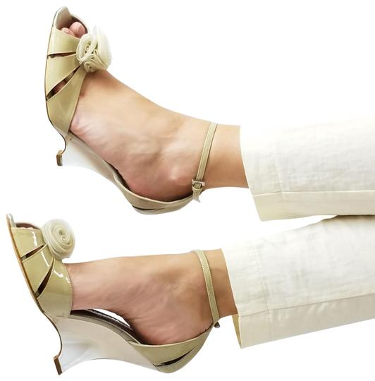 Preload https://item3.tradesy.com/images/giorgio-armani-nude-new-women-patent-leather-slim-heel-peep-toe-pumps-sandals-wedges-size-us-9-regul-24049892-0-1.jpg?width=440&height=440