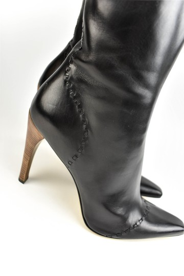 Gucci Leather Heels Brown Black Boots