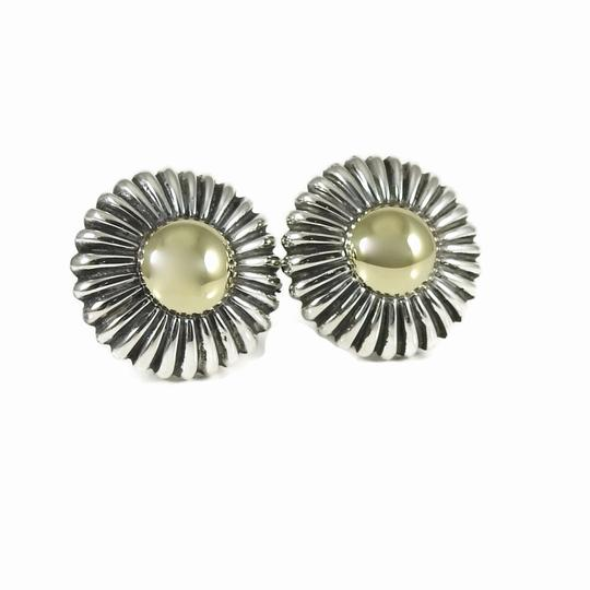 Preload https://item4.tradesy.com/images/lagos-silver-gold-vintage-sterling-18k-yellow-round-dome-earrings-24049918-0-0.jpg?width=440&height=440