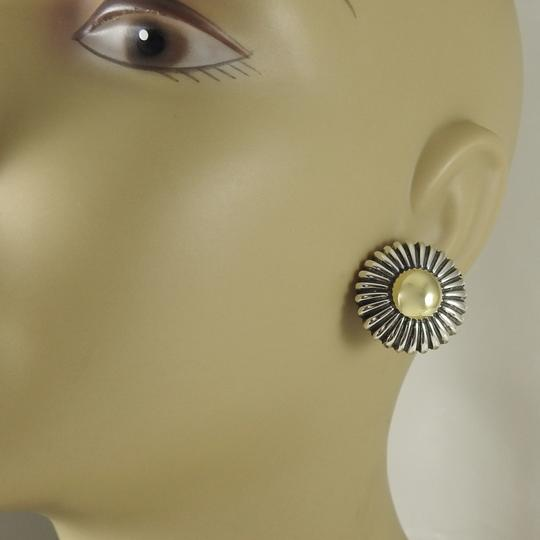 Lagos Lagos Vintage Sterling Silver 18K Yellow Gold Round Gold Dome Earrings