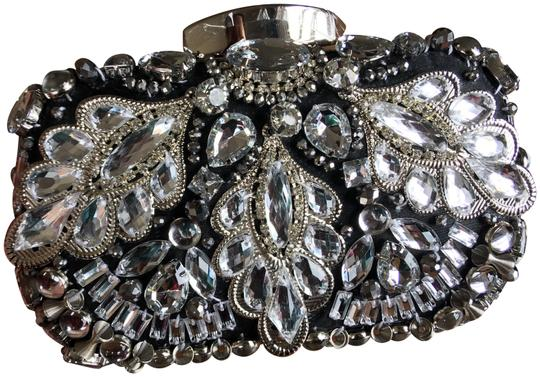 Preload https://item5.tradesy.com/images/beaded-silver-and-black-and-crystal-satin-metal-sequins-clutch-24049919-0-1.jpg?width=440&height=440