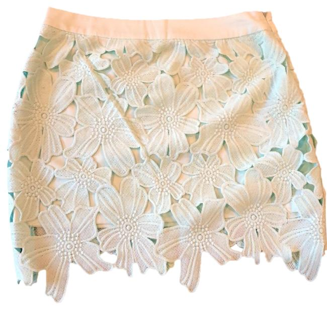 Tea & Cup Mini Skirt Teal