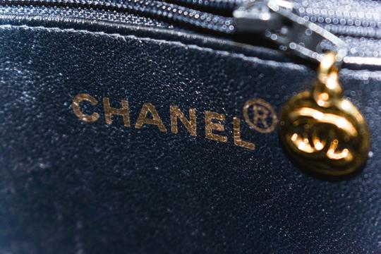 Chanel Quilted Leather Patent Cc Tote in Black