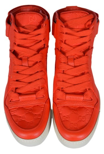 Gucci Men's High Top Sneakers Red Athletic