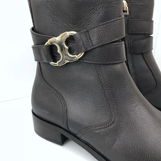 Tory Burch Gemini Link Ankle Leather Brown Boots