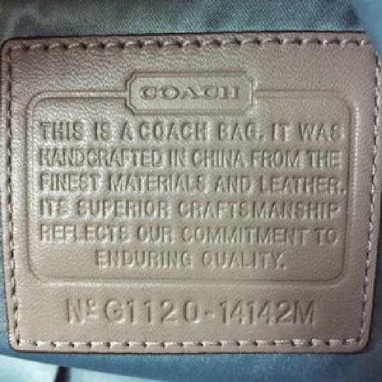 Coach Cowhide Leather Cross Body Bag
