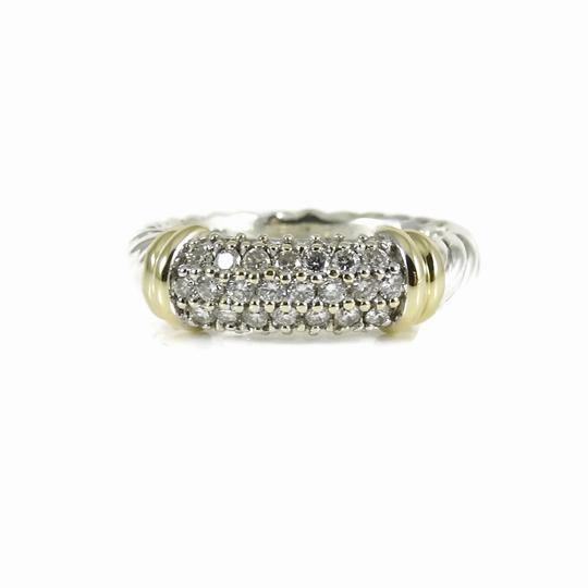 Preload https://item4.tradesy.com/images/david-yurman-silver-gold-white-diamonds-sterling-18k-pave-metro-band-ring-24049953-0-0.jpg?width=440&height=440