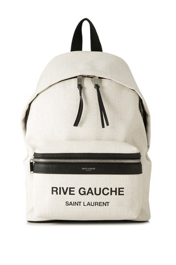 Preload https://item4.tradesy.com/images/saint-laurent-city-rive-gauche-mini-white-leather-coated-canv-backpack-24049958-0-0.jpg?width=440&height=440
