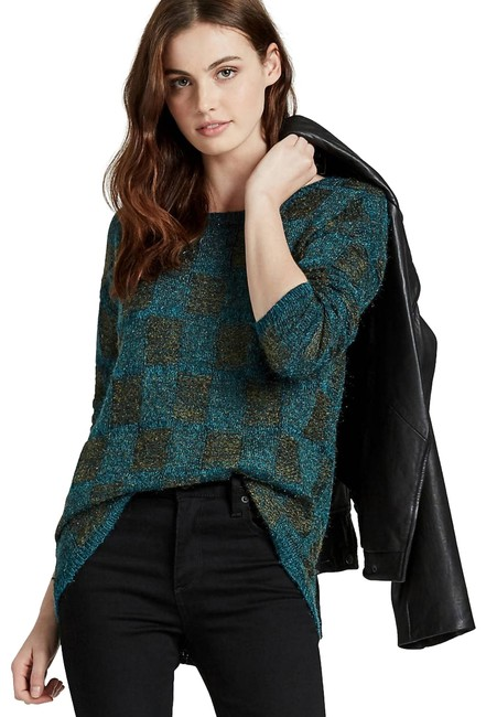 Preload https://img-static.tradesy.com/item/24049971/lucky-brand-blue-turquoise-plaid-sweaterpullover-size-2-xs-0-4-650-650.jpg